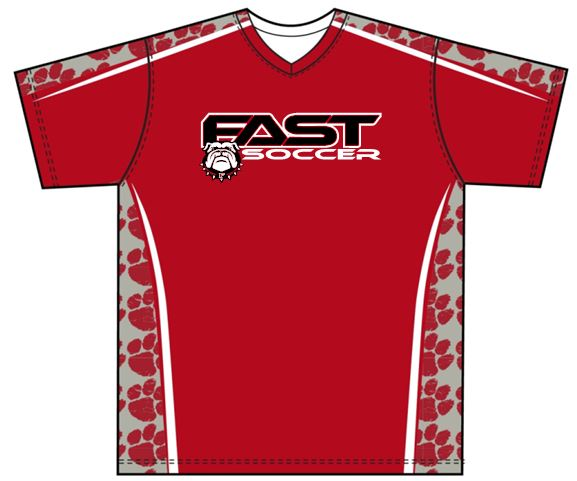 F.A.S.T. SOCCER UNIFORM RED JERSEY