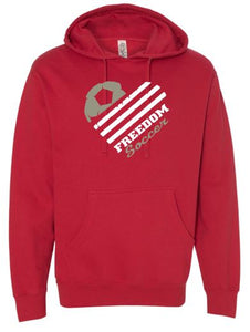 "FREEDOM SOCCER ""GLITTER"" COTTON HOODIE"