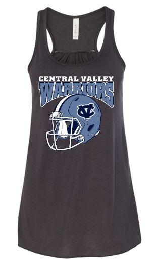 CV WARRIORS FOOTBALL HELMET FLOWY TANK TOP