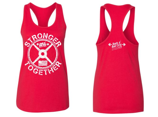 RNR CITY STRONGER TOGETHER RED TANK TOP