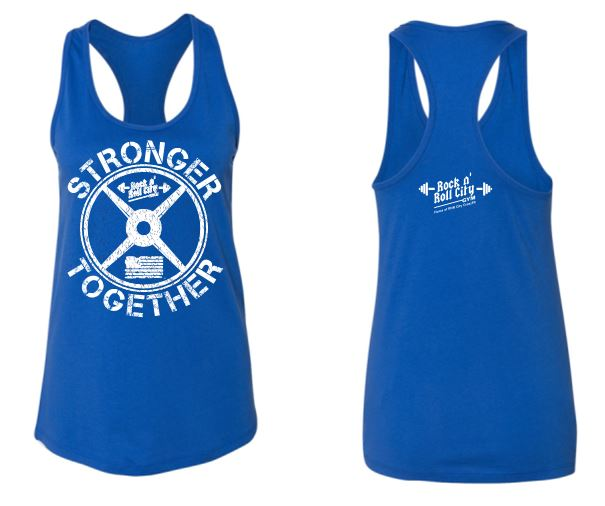 RNR CITY STRONGER TOGETHER ROYAL TANK TOP