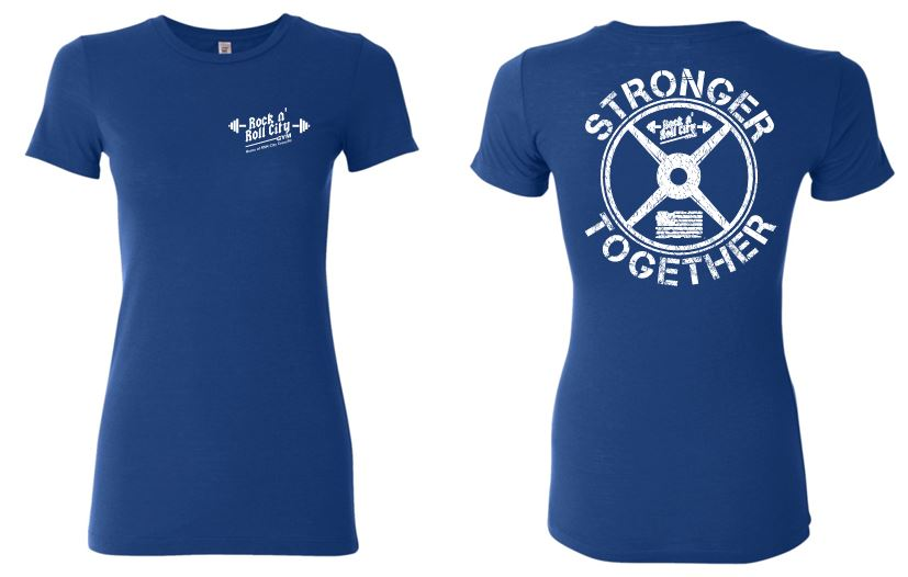 RNR CITY STRONGER TOGETHER LADIES BLUE TSHIRT