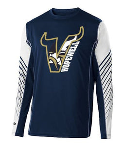 VIKINGS V LONG SLEEVE HOLLOWAY TSHIRT