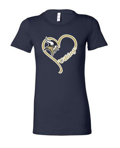 "VIKING ""GLITTER"" HEART SHORT SLEEVE BELLA TSHIRT"