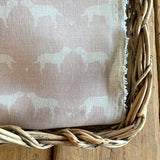 Old Rose Blotch Olive+Daisy Linen