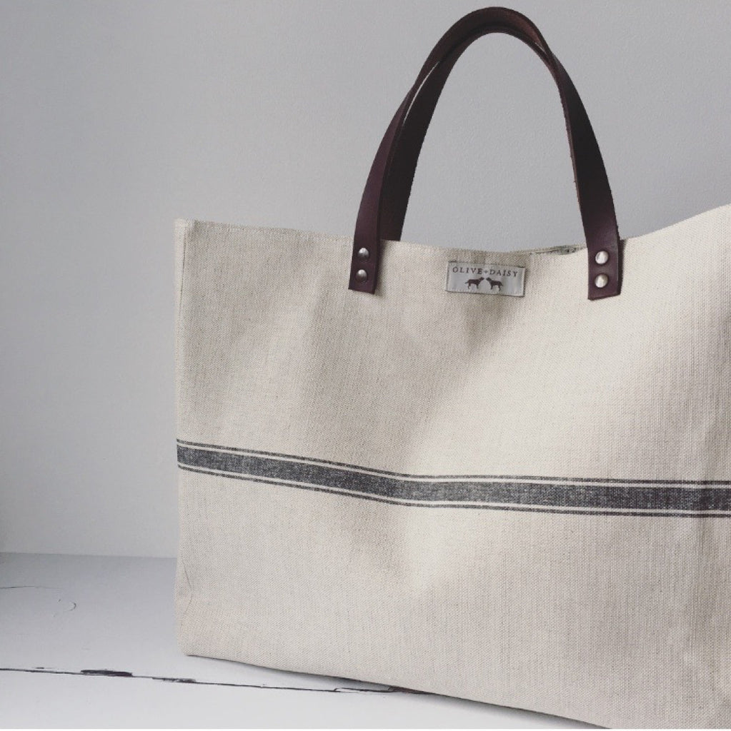 Land Stripe Tote Bag