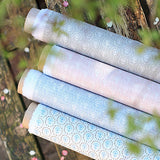 Powder Blue Blotch Daisy Linen