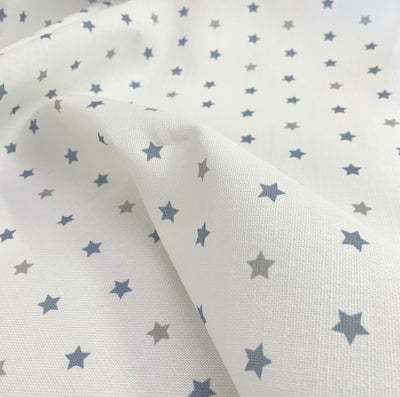 Pacific Blue+Dove Grey Shooting Stars Linen