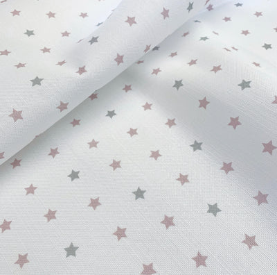 Old Rose+Dove Grey Shooting Stars Linen