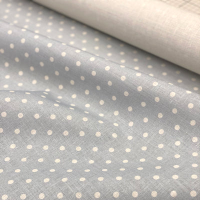 Pacific Blue Blotch Totally Dotty Linen