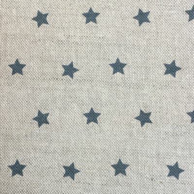 Dark Navy Shooting Stars Linen