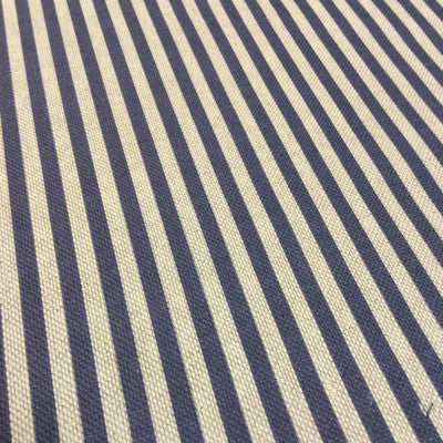 Dark Navy Candy Stripe Linen