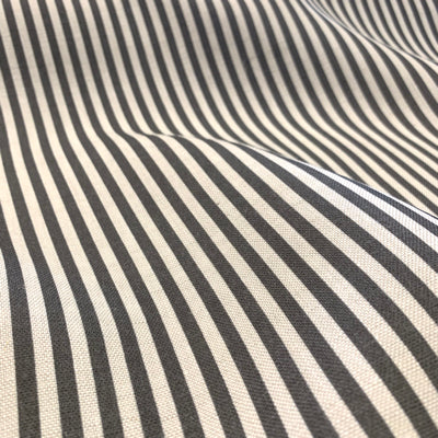 Charcoal Candy Stripe Linen