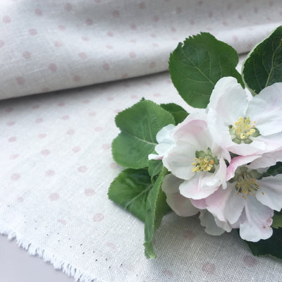 Soft Pink Totally Dotty Linen