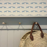 Cornish Blue+Rock Olive+Daisy Labrador Wallpaper