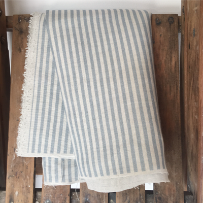 Pacific Blue Candy Stripe Linen