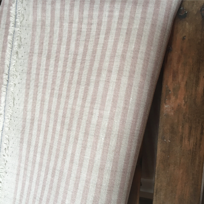 Old Rose Candy Stripe Linen