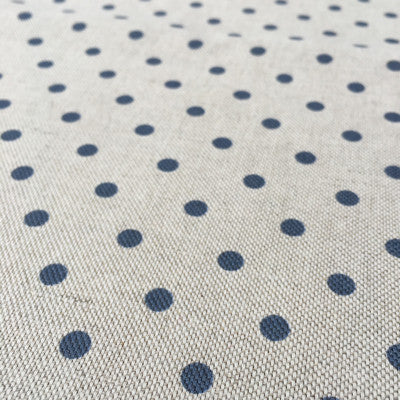 Slate Blue Totally Dotty Linen