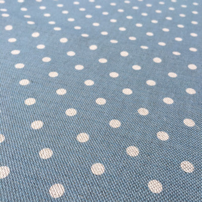 Nordic Blue Blotch Totally Dotty Linen