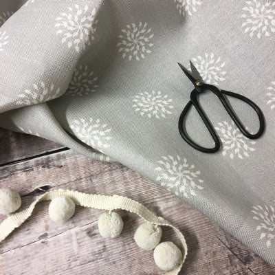 Grey Blotch Nancy Linen