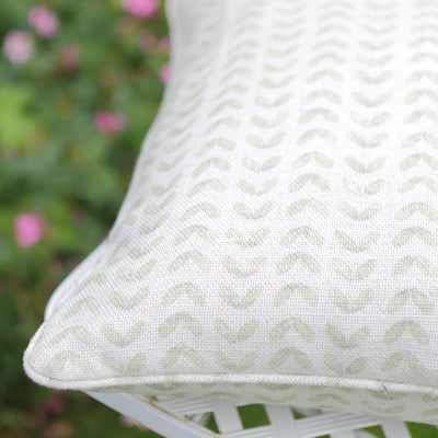 Pear Green Samara Piped Cushion