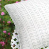 Seafoam Samara Piped Cushion