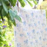 Aegean Blue Country Rose Linen