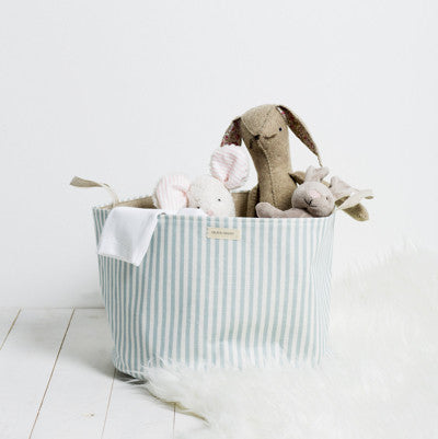Duckegg Candy Stripe Storage Basket