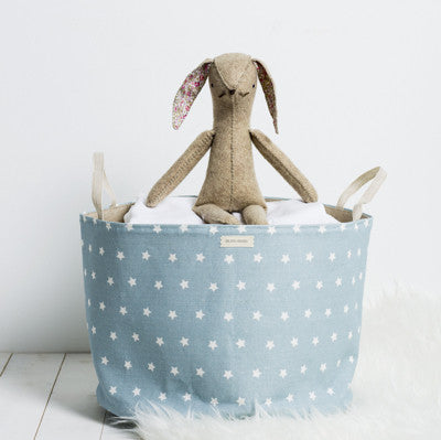 Powder Blue Blotch Shooting Stars Storage Basket