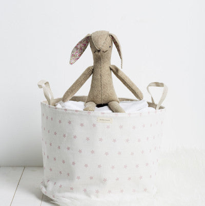Rose Pink Shooting Stars Storage Basket