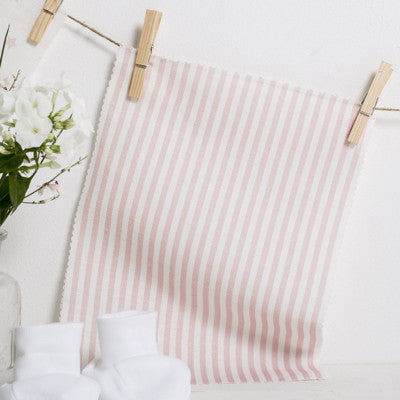Rose Pink Candy Stripe Linen