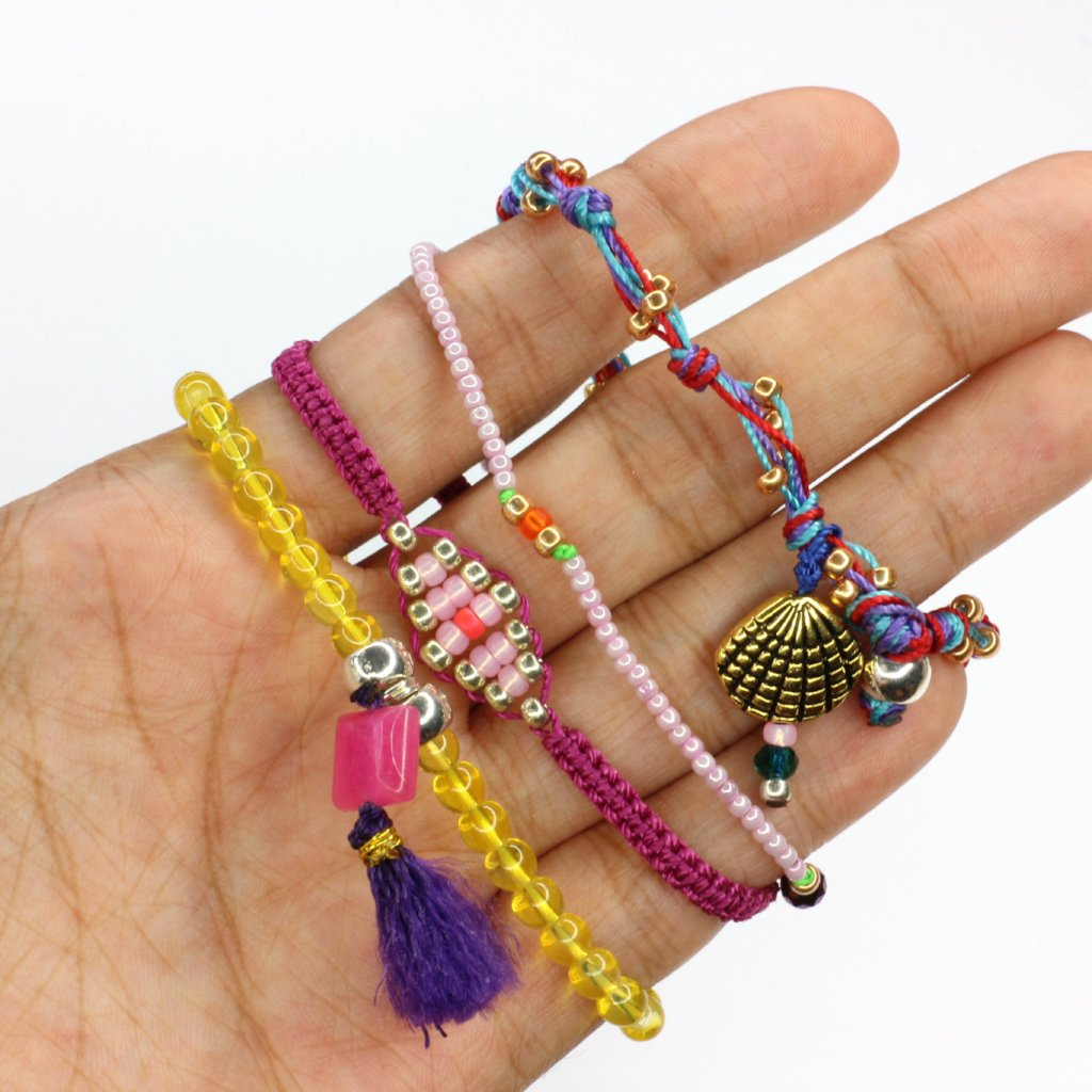 Fucsia World SET no.2 (4 BRACELETS)