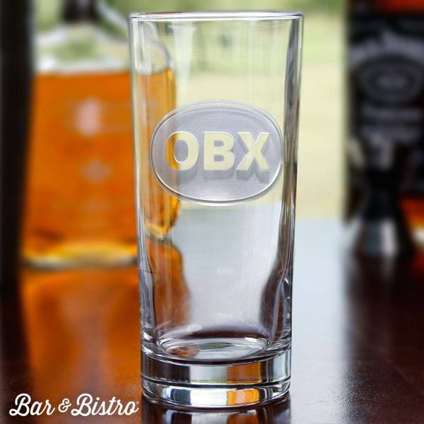 Barware - Classic Oval Monogram Cooler Glass