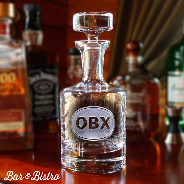 Barware - Classic Oval Monogram Decanter