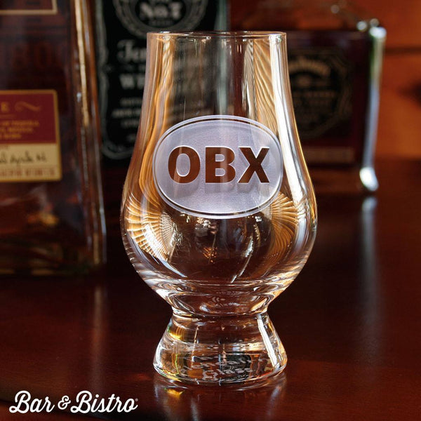 Barware - Classic Oval Monogram Glencairn Glass