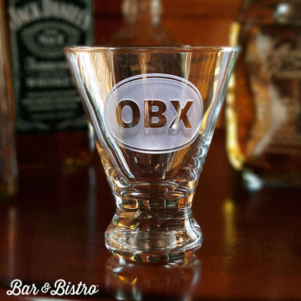 Barware - Classic Oval Monogram Martini Glass