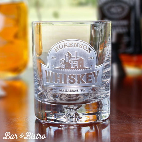 Distillery Engraved Whiskey/Rocks Glass