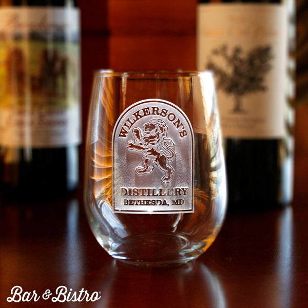 Barware - Rampant Lion Stemless Wine Glass