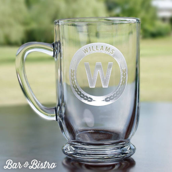 Barware - Round Monogram Coffee Mug