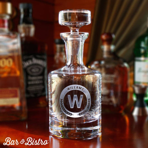 Barware - Round Monogram Decanter