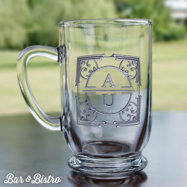 Art Deco Two Initial Coffee Mug