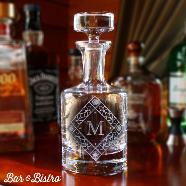 Diamond Monogram Decanter