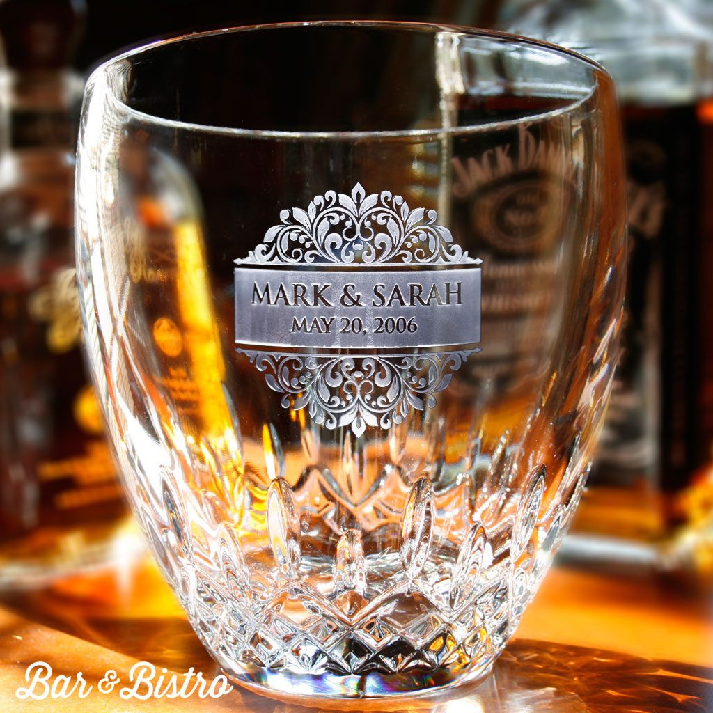 Ice Bucket - Floral Border Engraved Waterford Ice Bucket