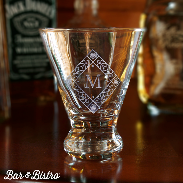 Diamond Monogram Martini Glass