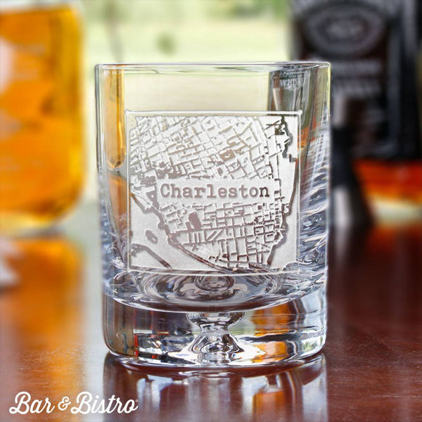 Custom City or Town Whiskey Glass