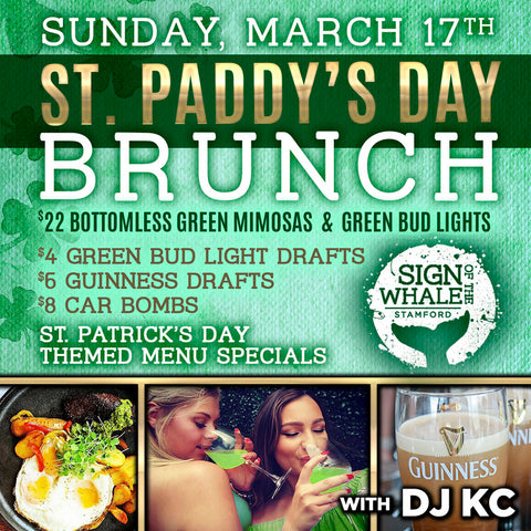 SIgn Of The Whale, St Patty's Day, Brunch, Stamford