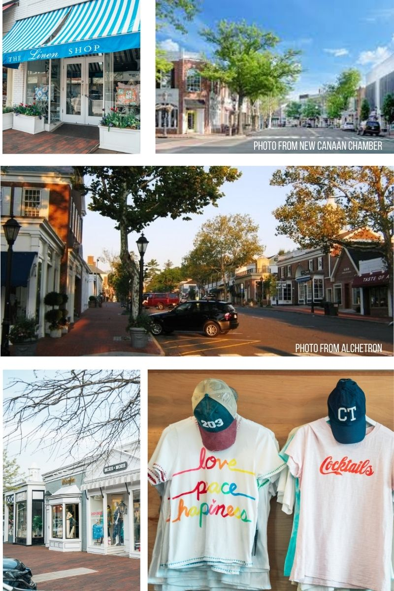 Shopping Downtown New Canaan CT