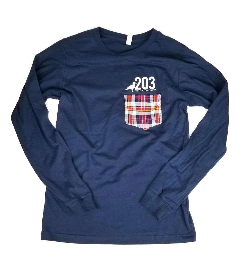 Plaid Pocket HOME Long Sleeve Tee - The Two Oh Three