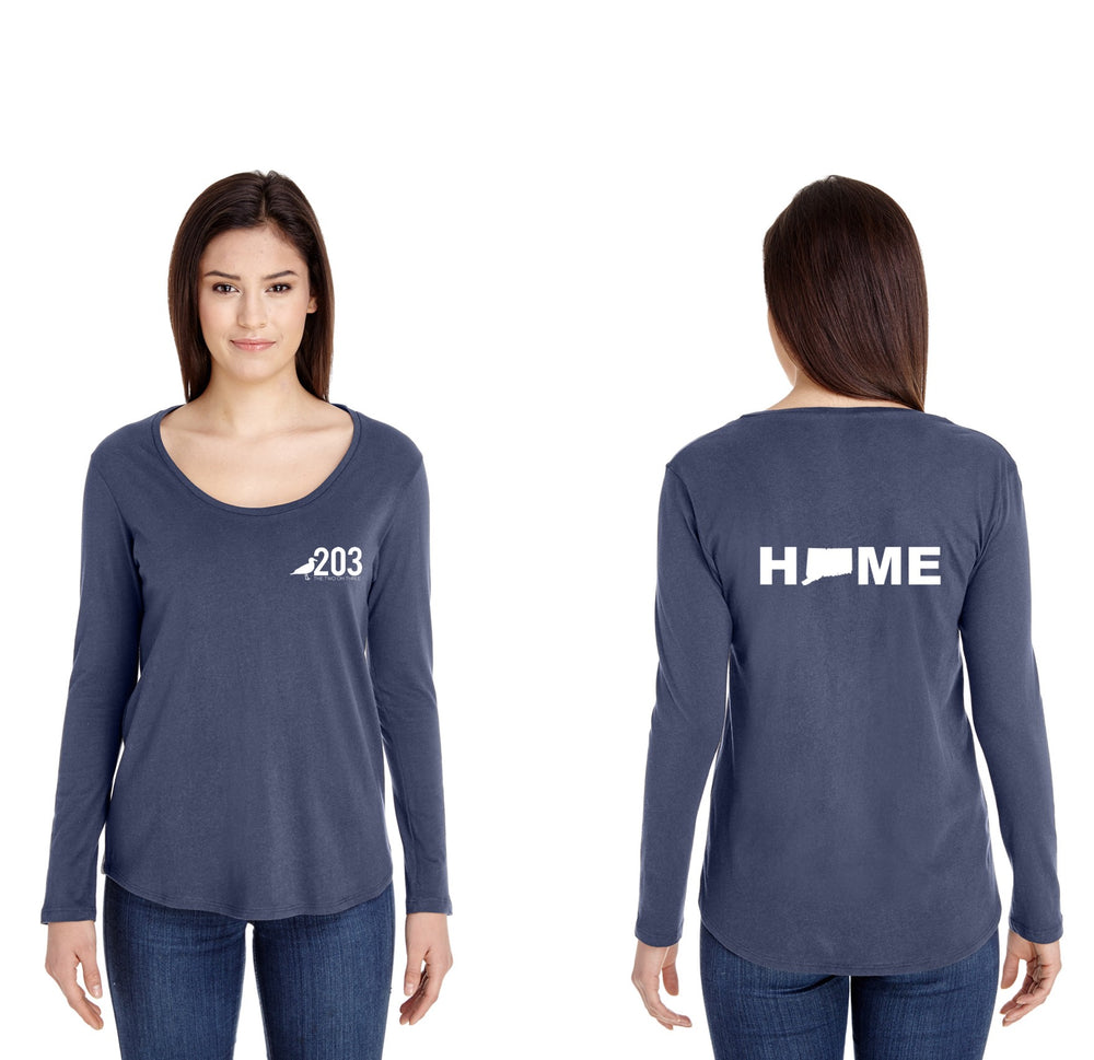 Lady's Swoop Neck HOME Tee