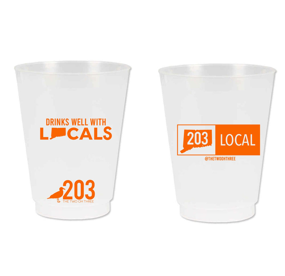 203 Drinks Well With Locals Cups